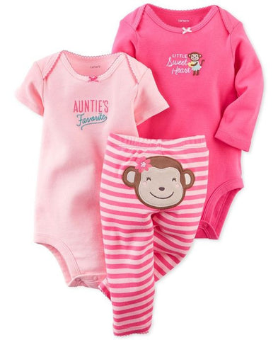 Carters Little Sweet Heart 3pc Leggings Set