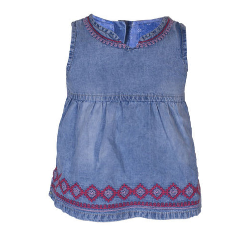 Jean Dress with Button Closure