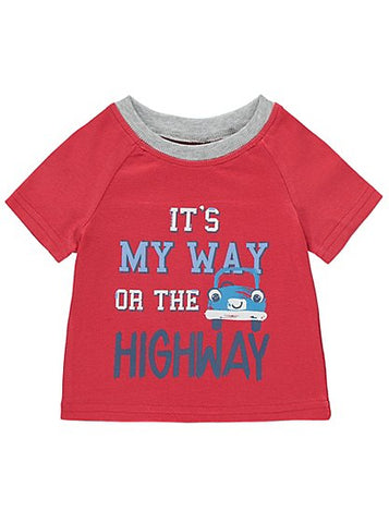 George It's My Way Slogan Print T-shirt