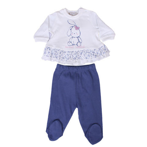 2 Piece Girl Footed Pants Set
