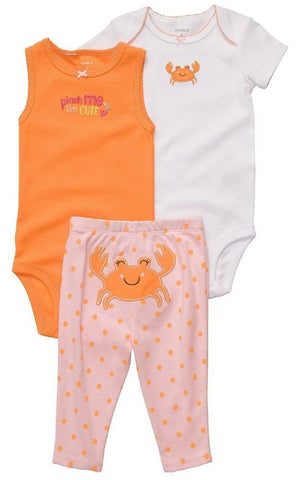 Carter's 3 Pc Crab Leggings Set