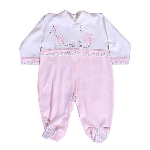 Gaye Girly Pink and white Sleep Suit