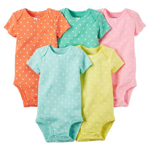 Carter's 5-Pack Polka Short Sleeve Original Bodysuits