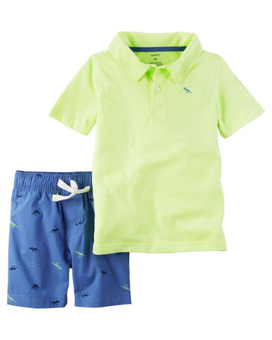 Carter's Boy Neon Lemon Tee & Shorts Set