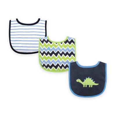 Luvable Friends Mr Tortoise 3 Pack Bibs