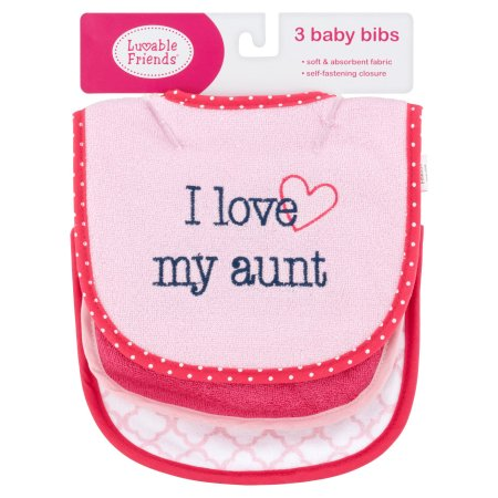 Luvable Friends I Love my Aunt 3 Pack Bibs