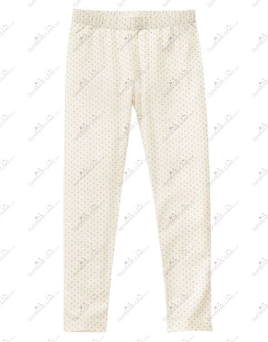 Crazy8 Gold Dotted Cream Leggings