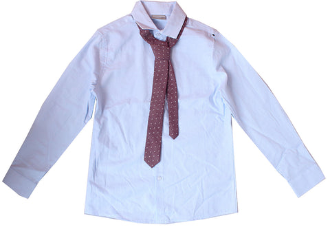 Next sky blue shirt with tie long  sleeve shirt