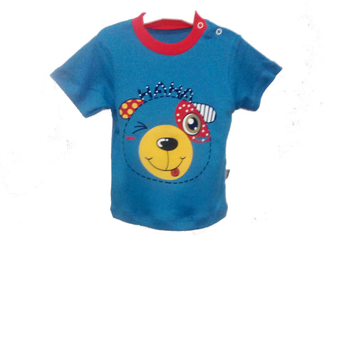 Puppy Short Sleeve Blue T Shirt - uniquechildren