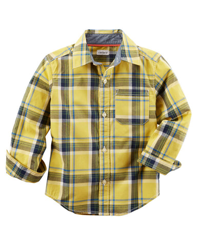 Carter's Plaid Long Sleeve Shirt