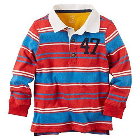 Carter's Striped Long Sleeve Rugby Top