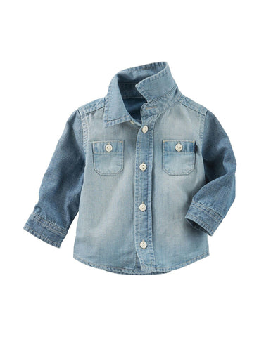 Baby B'gosh Long Sleeve Denim Shirt