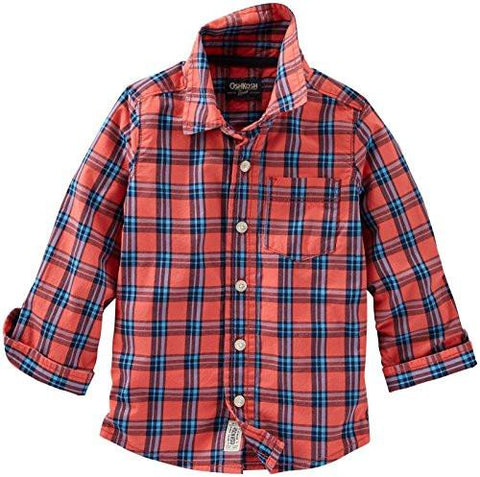 Oshkosh Plaid Long Sleeve Shirt