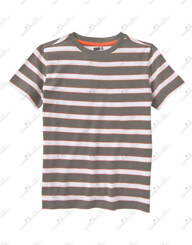 Crazy8 Striped T-Shirt-Brown/White