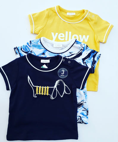 Next Baby Puppy Boy 3 Pack Tops