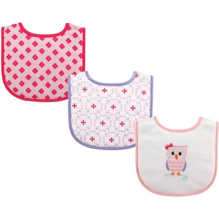 Luvable Friends Owl 3 Pack Bibs