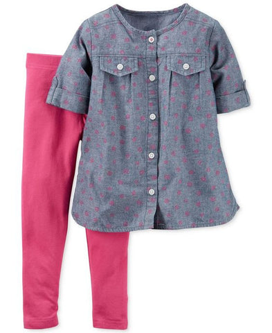 Carters Top and Leggings Set - Pink/Blue