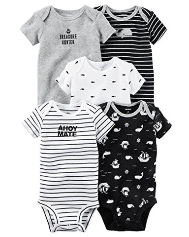 Carter's 5-Pack Little Matey Short Sleeve Original Bodysuits