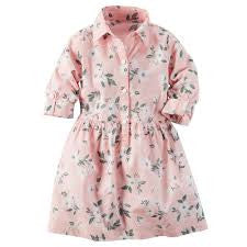 Carters Floral Print Girl Shirt Dress