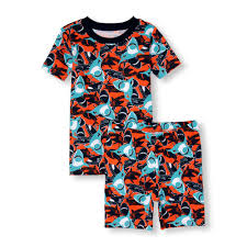 Place Shark Short Sleeve Tee & Short Leg Pyjamas Set