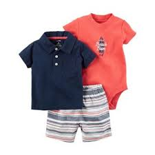 Carter's Local Cutie Bodysuit, Tee & Shorts Set