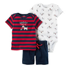 Carter's Daddy and Me 3pc Shorts Set