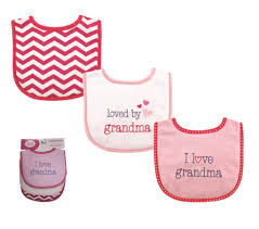 Luvable Friends I Love Grandma 3 Pack Bibs