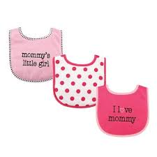 Luvable Friends I Love Mommy Pink 3 Pack Bibs