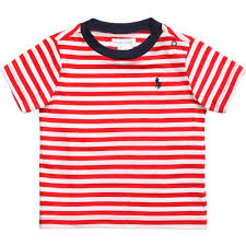 Red and White Stripe Polo Ralph Lauren