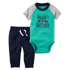 Carter's World's Best Brother Bodysuit Tee & Joggers Set