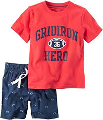 Carter's Grid Iron Hero Tee & Shorts Set