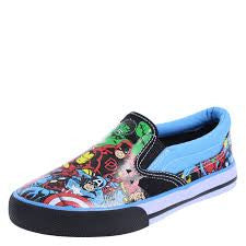 BOYS' COMIC AVENGERS TWIN GORE SLIP-ON
