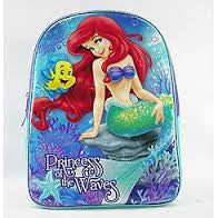 Disney Kittle Mermaid Glitter School Backpack