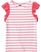 Pink and White Stripe Girls Tee