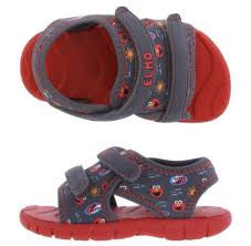 Elmo Toddler Sandals - Red/Gray - uniquechildren
