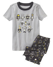 Gymboree Time for Bed Short Sleeve Tee & Short Leg Pyjamas Set