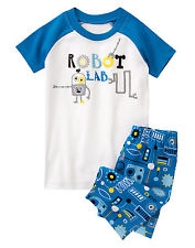 Gymboree Robot Lab Short Sleeve Tee & Short Leg Pyjamas Set