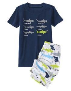 Gymboree Shark Short Sleeve Tee & Short Leg Pyjamas Set