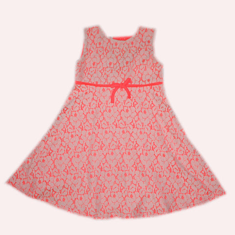 Blueberi Lace Peach Dress - uniquechildren