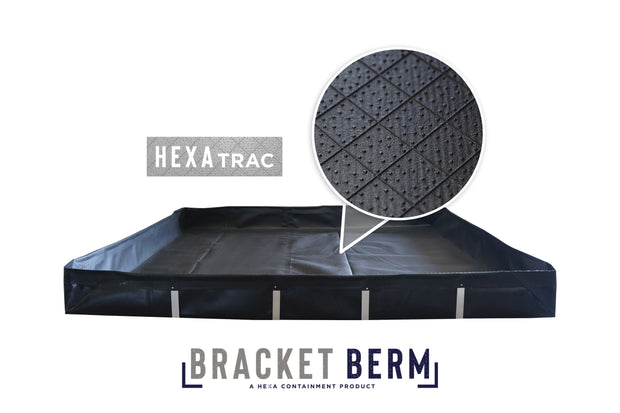 "4' x 4' x 12"" Bracket Berm Spill Containment Berm"