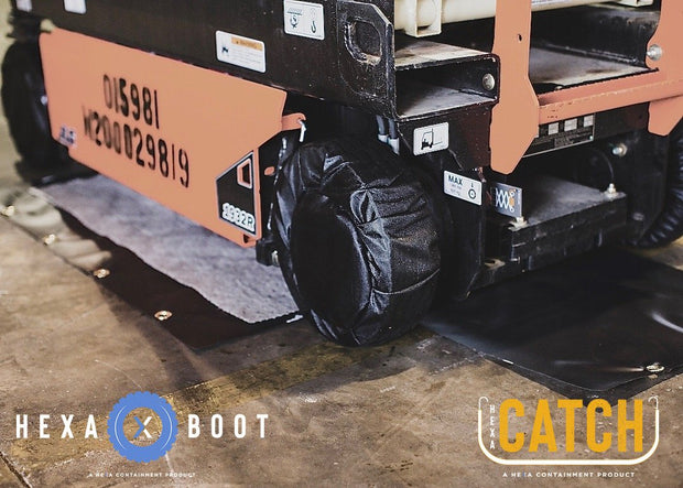 Caterpillar TL642C with Stabilizers Boots Socks Catch Drip Protection Diapers