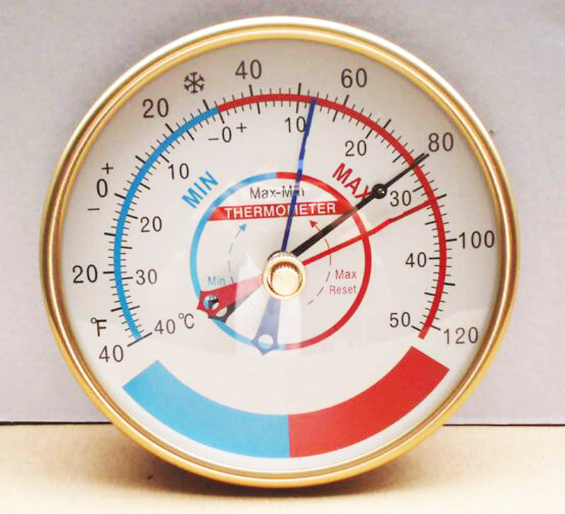 "Min - Max Thermometer, 5"" Analog Dial, On Sale Now!"