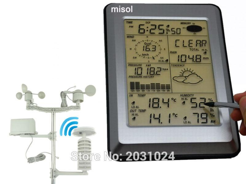 NEW PRODUCT, Misol Professional Wireless Weather Station, Touch Panel Display, Solar sensor, PC interface