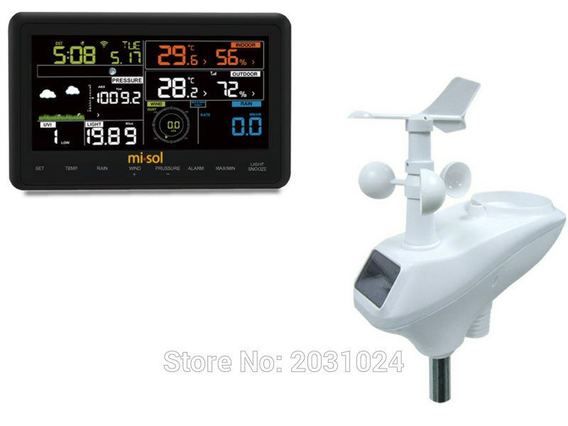 NEW PRODUCT, Misol Professional Wireless Internet Weather Station, WiFi, Color Touch Panel Display