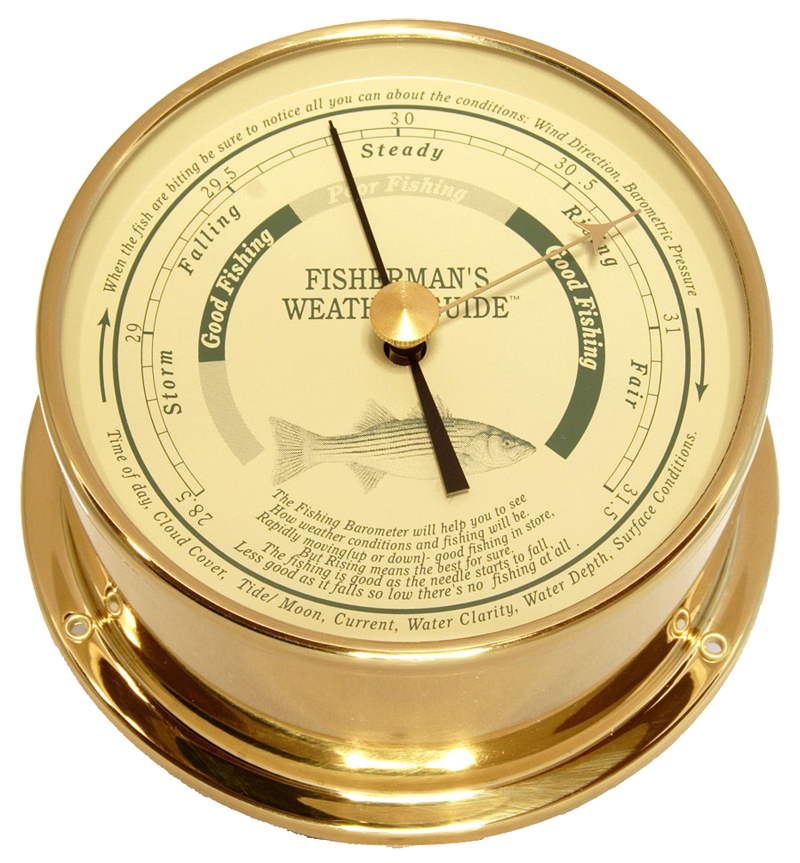 Downeaster Fishing Barometer, Saltwater Fish, On Sale Now!