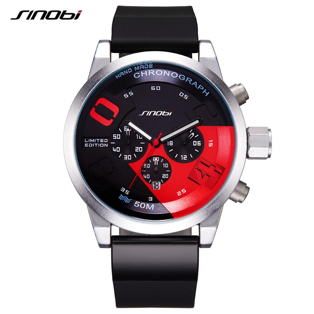 SINOBI Men Sport Chronograph Watch, Limited Edition Fast & Furious Style