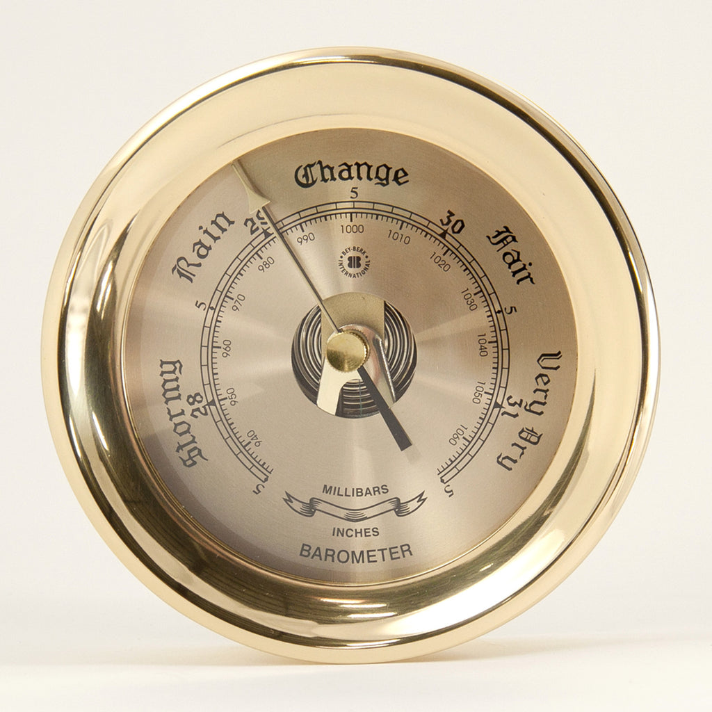 Featured Gift: Brass Dial Barometer in Heavy Brass Case by Bey Berk