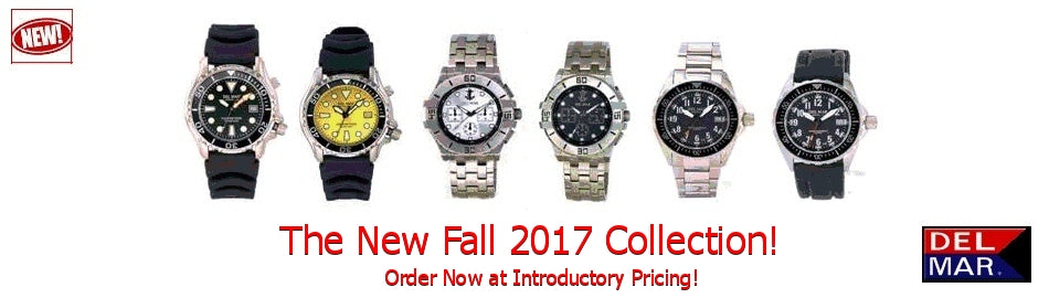 New Del Mar Watches, Fall 2017 Collection, On Sale Now!