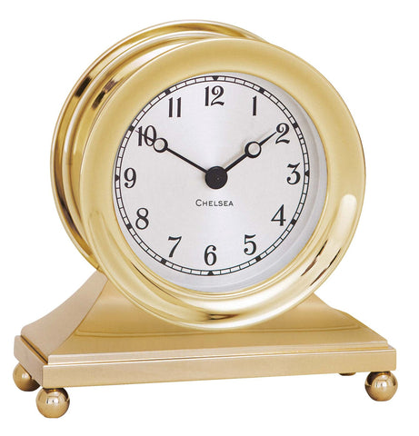 Chelsea Constitution Clock, Brass - BellClocks.com