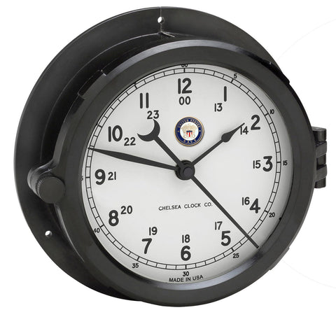 Chelsea U S Navy Patriot Deck Clock, White Dial - BellClocks.com